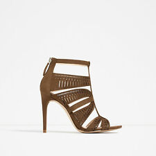 ZARA *Leather Strappy High Heel Sandals* NEW_UK3_4_5_6_7_8