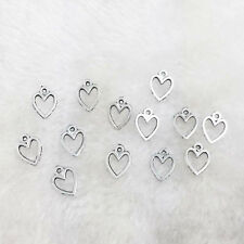 50pcs heart Tibet silver Charm Pendant beaded Jewelry Findings .//