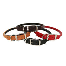 Brand New Auburn Leathercrafters Durable Leather Classic Rolled Dog Pet Collars