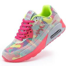 Newest Fashion Womens Sports Air Cushion Athletic Sneakers PU Mesh Running Shoes
