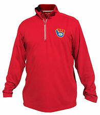 Wisconsin Sports 1/4-Zip Pullover Sport-Wick Brewers Packers Badgers Logo