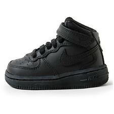 Nike Force 1 Mid (TD) Black/Black-Black Toddler Shoes Size 6  314197 001