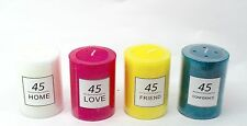 45 Hours Scented Pillar Glass Jar Candle Gift 4 Scents Available