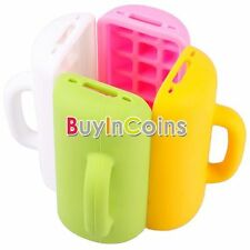 3D Mug Cup Design Silicone Skin Stand Soft Back Case Cover For iphone 4 4S CA