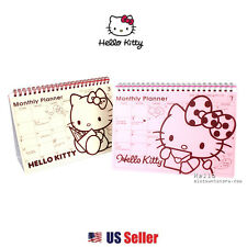 Sanrio Hello Kitty Monthly Weekly Standing Planner Scheduler Book : Red / Pink