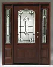 Summer SALE! Solid Wood Mahogany Unit Pre-hung& Finished TMH7107-GL02