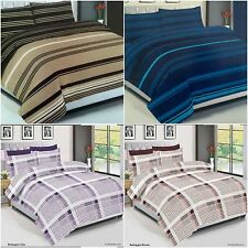 Duvet Cover Bedding Set With PillowCases Quilt Cover & Fitted Bed Sheet All Size