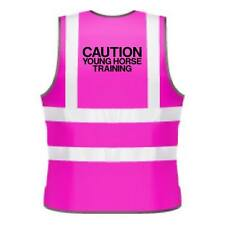KIDS HI-VIZ PRINTED CAUTION YOUNG HORSE TRAINING SAFETY WEAR FOR HORSE RIDING