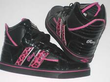 Womens PASTRY STRATA LEOPARD Hi Top Black/Pink Trainers