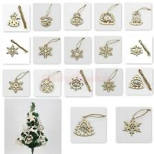 5Pcs Christmas Tree Craft Embellishment Wood Hanging Decor Home Mall Tag 6 Sizes