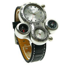 Cool Design Oulm Men's Quartz Movement Sport Wrist Watch With Leather Band