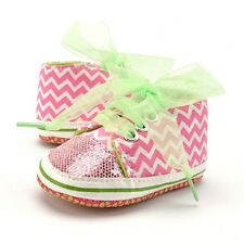 Baby Girl Newborn Toddler Bling Bandage Ankle Boot Casual Shoes Trainner Canvas