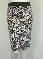 M&S PER UNA STRETCH PENCIL SKIRT~BLACK/WHITE PEBBLE PRINT~10~rrp £35~New