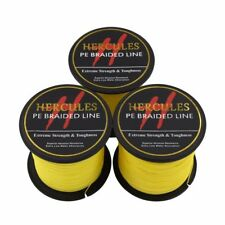 Hercules Yellow 100M-2000M 6lb-300lb Spectra PE Dyneema 4S&8S Braid Fishing Line
