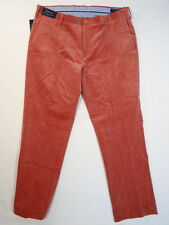 Polo Ralph Lauren Classic Fit Nantucket Red Flat Front Corduroy Pants Mens NWT