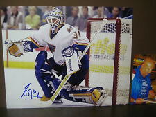 GRANT FUHR Autographed Signed 11x14 Photo w/Proof Photo Signing St Louis Blues