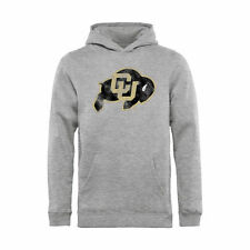 Colorado Buffaloes Youth Ash Classic Primary Logo Pullover Hoodie