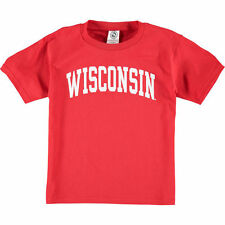 New Agenda Wisconsin Badgers Youth Red Arch T-Shirt