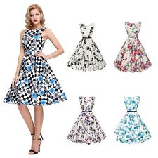 Women Lady Vintage 50'S 60'S Rockabilly Dress Swing Pinup Retro Housewife Party