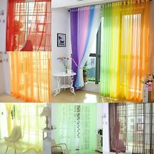 2pcs Panels Of Lucy Voile Slot Top Panels Top Quality Net & Voile Cover Curtains