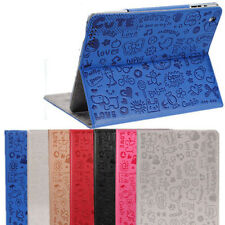 Cartoon Magnetic Smart Cover Leather Case WAKE/SLEEP Stand For Apple iPad 2 3 4