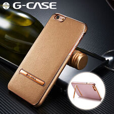 G-CASE Plating Leather Ultra Thin Back Kickstand Case For iPhone 6S/6/Plus