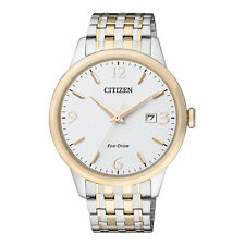 Citizen Business ECO-DRIVE  Mens Analog Silver Watch BM7304-59A