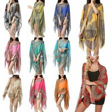 Women Fashion Pretty Long Soft Chiffon Scarf Wrap Shawl Stole Scarves Sunscreen
