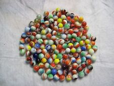 Vintage lot of 150 glass agate and swirl marbles