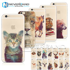Cute Watercolor Animal Print Soft/Hard Case Cover For iPhone 5/6/6s/6ps &Samsung