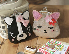 Fashion Ladies Cute Cat Dog Animal  Hasp Clutch Coin Purse Wallet Mini Bag Hot