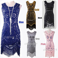 Vintage 1920s Flapper Costume Gatsby 20s Charleston Party Womens Cocktail Dress