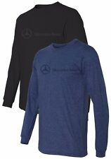 OEM GENUINE MERCEDES BENZ MEN'S 100% PRESHRUNK RING SPUN LONG SLEEVE T-SHIRT
