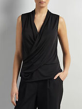 Somerset By Alice Temperley Sleeveless Drape Wrap Over Top Black Size 16 RRP £65