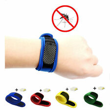 Anti Mosquito Bug Insect Repellent Bracelet Wrist Band 4 Repellent Refills