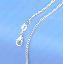 Stunning Silver 2mm Flat Curb Chain Necklace