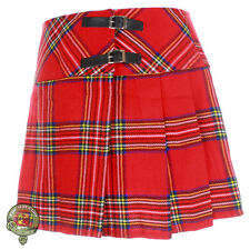 Ladies Royal Stewart Tartan Mini Kilt Girls Skirt Womens Billie Kilt Size 6-14