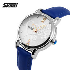 SKMEI Women's Leather Dress Casual Flower Fashion Waterproof Quartz Analog watch