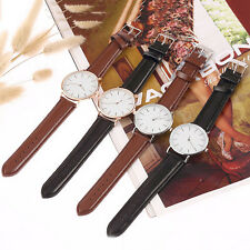 Fashion Girl Women Lady Leather Band Analog Quartz Round Wrist Watch Watches