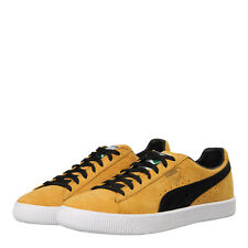 """New Mens Puma  Clyde """"OG Pack"""" Trainers - Bright Gold Suede"""