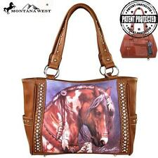 NEW Montana West Western Handbag Purse Wallet Set Horse Laurie Prindle Cowgirl