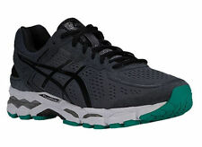 NEW MENS ASICS GEL-KAYANO 22 RUNNING SHOES TRAINERS CARBON / BLACK / SILVER