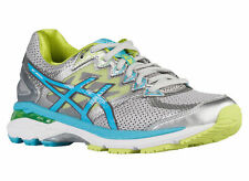 NEW WOMENS ASICS GT-2000 V4 GEL RUNNING SHOES TRAINERS SILVER / TURQUOISE / LIME