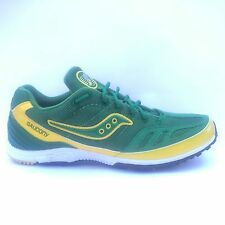 SAUCONY Kilkenny Racing Flats Spikes Mens Track Shoes GREEN YELLOW WHITE New NIB