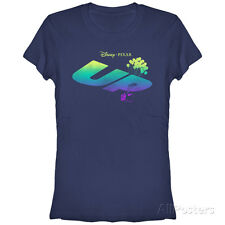 Juniors: Pixar: Up- Rising Logo Juniors (Slim) T-Shirt Blue New Womens Ladies