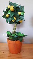 Lemon Topiary Tree Artificial Green Leaves Ceramic Pot Gift Kitchen Alfresco