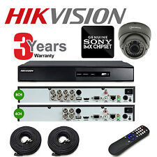 1080p HD TVI 1,2,4,8 Camera CCTV System Kit With 4CH or 8CH Hikvision Turbo DVR