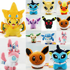 Nintendo Pokemon Pikachu Flareon Eevee Kids Figure Plush Soft Stuffed Toys Dolls