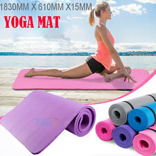 Free Postage 15MM NBR Super Thick Pilate Fitness Yoga Gym Mat NonSlip Exercise