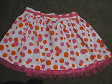 BNWT GIRLS POLKA DOT COTTON  SKIRT SIZE 3  ELASTICIZED WAIST TULLE HEM